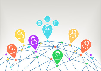Connectivity and communication within social network