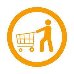 Icono redondo consumidor naranja