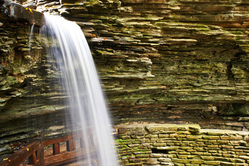 Cave waterfall at Watkins Glen state park