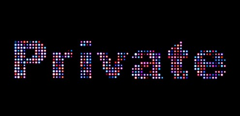 Private led text