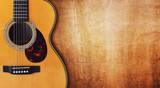 Fototapety Guitar and blank grunge background