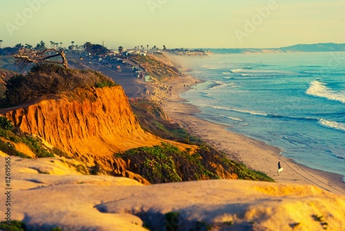 Plakat Encinitas Beach in California