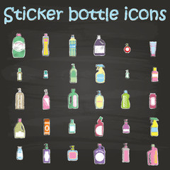 sticker bottle icons