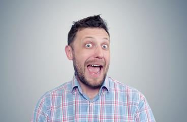 Bearded happy man positive, portrait