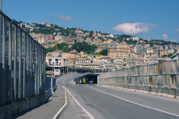 Road to the center of Genova