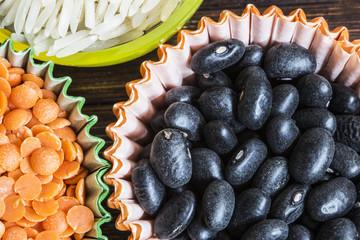 cibo e fagioli neri