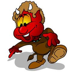 Devil - Cartoon Illustration, Vector