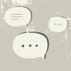 Speech Bubble. Talk cloud.