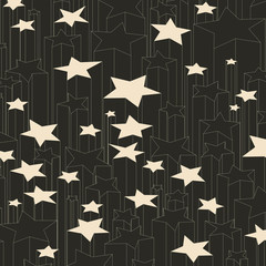 Black and white lucky stars.