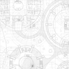 Architectural blueprint.