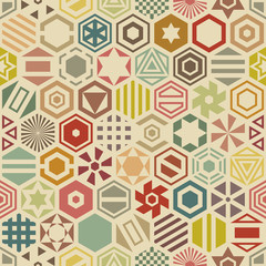 Hexagon seamless pattern.