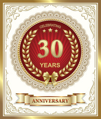 Anniversary card 30 years