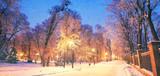 Fototapety Mariinsky garden during inclement weather