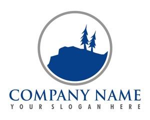 blue cliff logo image vector