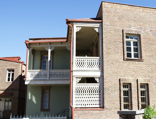 Tbilisi, Old town, Traditional balconies and houses