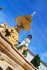 Brunnen am Residenzplatz in Salzburg