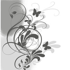 floral grise
