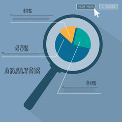 Infographics Business analysis under the magnifying glass