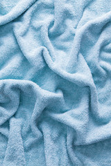 Light Blue Soft Cotton Towel for Backgrounds
