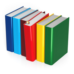 Books choice row colorful red selecting take choosing blank