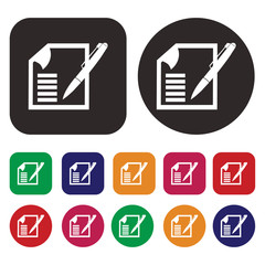 Notes icon . List icon