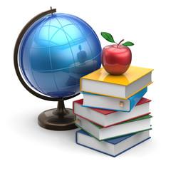 Globe books apple blank global international studying icon