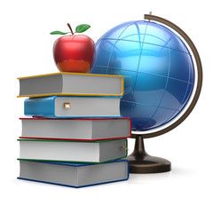 Apple books globe blank global international knowledge icon