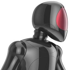 Cyborg bot robot futuristic artificial electronic dummy concept
