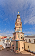 Belfry of St Peter and Paul Cathedral (1726) in Kazan, Russia