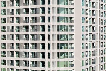 Close up of a new public apartment building