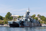 Ukraine, Sevastopol - September 02, 2011: Russian ship with miss