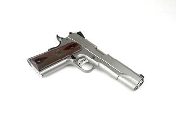 Pistol 1911 on white background