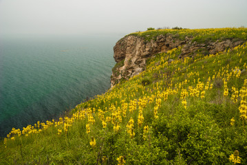 Nature reserve on the Black Sea Coast, Kaliakra headland