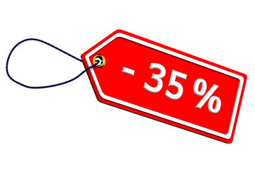 Discount thirty-five percentages tag
