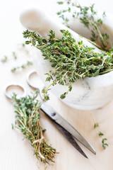 Dried herbs thyme