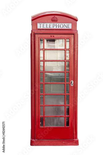 Zdjęcia na płótnie, fototapety, obrazy : Rote Telefonzelle