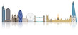 Illustration of London city skyline