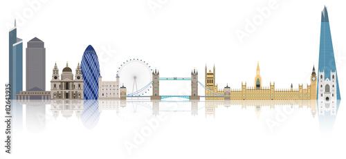 Zdjęcia na płótnie, fototapety, obrazy : Illustration of London city skyline
