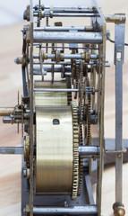 Detail einer mechanischen Uhr