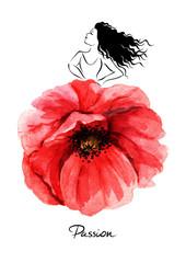 Beautiful flamenco dancer/vector illustration