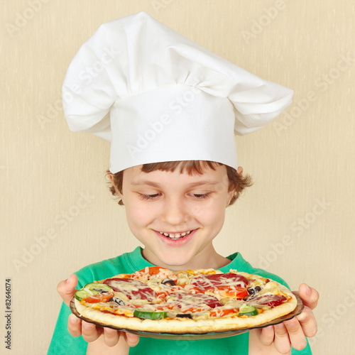 Pizza Chef Hat in Chefs Hat With a Cooked
