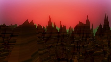 Abstract dark mountains