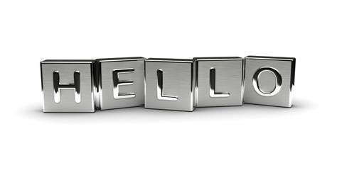 Metal Hello Text