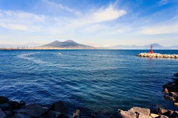 Vesuvio mountain , Naples , Italy
