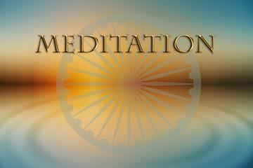 Beautiful meditation design