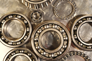 ball-bearings for aerospace industry, titanium and steel