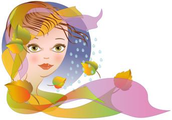 Autumn - Allegoria dell'autunno con viso femminile