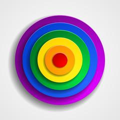 LGBT colors target button