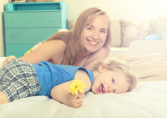 smiling mom with your child