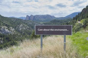 Cuida el medioambiente.